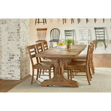keyed trestle dining table by magnolia home by joanna gaines