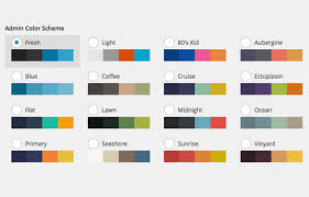 color cheme customize wordpress admin color scheme hongkiat