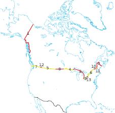 map of canada us canada united states border