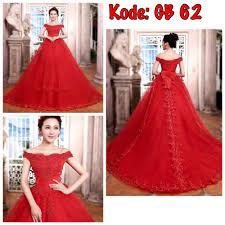 wedding dress murah jual baju pengantin merah ekor panjang wedding dress murah gaun
