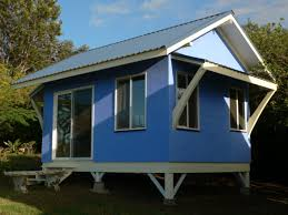 blue house with low cost and minimalist design ideas also white