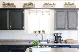 top of kitchen cabinet greenery small kitchen decor