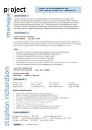project manager resume project manager resume format letter exle