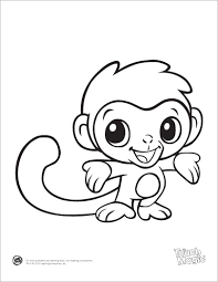 coloring pages graceful cute baby monkey coloring pages cute