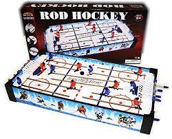 rod hockey table reviews wooden mini tabletop rod hockey game 24 x 12 2 x 3 54 sporting