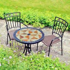 Mexican Patio Furniture Sets Garden Bistro Set Table And 2 Chairs Mexican Chair Weave Pattern