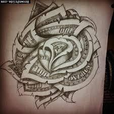 dollar bill rose tattoo tattoos pinterest tattoo tatting