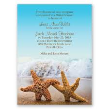 wedding shower invitation starfish bridal shower invitation invitations by