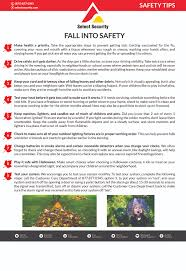 safety tips for fall select security