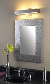 bathroom silver round leather lights above mirror traditional wall