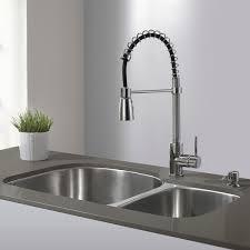 kraus kitchen faucet kraus kitchen faucets at single lever modern spiral pull