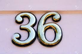 House Plate House Address Plate Number 36 Stock Photo Picture And Royalty