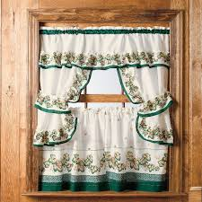 Kitchen Window Curtains by Stunning Brown Kitchen Curtains And Mainstays Tahoe Cabin Printed