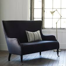 wingback couch wingback sofa charcoal