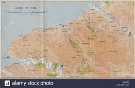 Le Havre France Map by Seine Maritime In 1940 Amiens Le Havre Dieppe Rouen Hmso 1953