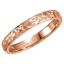 engraved wedding bands 14k gold 3mm engraved wedding band size 7 daniel