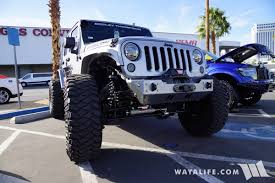 silver jeep rubicon 2017 sema k u0026n silver jeep jk wrangler unlimited