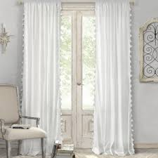 White Curtains With Blue Trim Decorating White Curtains With Blue Trim Wayfair
