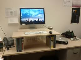 Sit Stand Desk Adapter by How To Make A Standing Desk In A Cubicle Decorative Desk Decoration