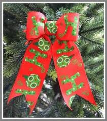 red green and white wire edged bow u0027joy u0027 typically unique bows