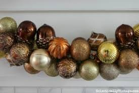 diy ornament garland mantel elko