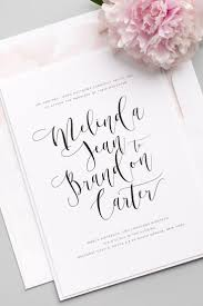 invitation flowing calligraphy wedding invitations 2530089