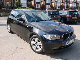 2008 bmw 1 series 118d se manual 3 door black long mot f s h hpi