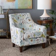 accent chair flower theme arm chair wood frame with foam