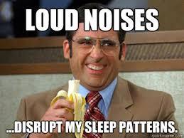 Loud Noises Meme - loud noises disrupt my sleep patterns brick tamland quickmeme