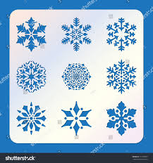 stencil snowflakes laser cutting template pattern stock vector