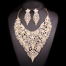 gold color necklace images Maynice luxury imitation pearl gold color jewelry sets gift for jpg