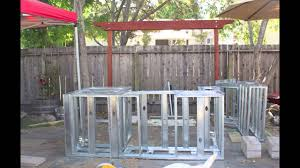 How To Build An Kitchen Island Building An Outdoor Kitchen Island Youtube