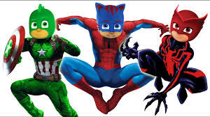 pj masks spider man venom captain america coloring pages for kids