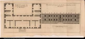 left plan du convent des jacobins au moüillage de la martinique