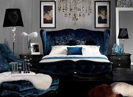 Meridian Bedroom Furniture by Teal Velvet Fabric Bed