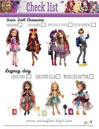 after high dolls names after high doll checklist 4 after high
