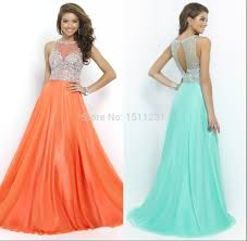 online get cheap orange prom dresses beaded aliexpress with