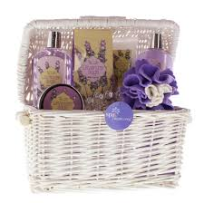 spa gift baskets for women bath and gift set womens spa basket lavender and scent