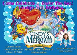 little mermaid birthday invitations kustom kreations