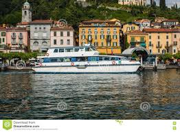 bellagio on lake como italy june 15 2016 view on coast line of