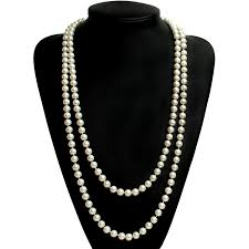 long pearl bead necklace images 1920s gatsby jewelry flapper earrings necklaces bracelets jpg