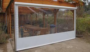 balkon regenschutz durchsichtige wetterschutzrollos für terrassen und loggien