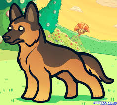 how to draw a german shepherd for kids step by step animals for