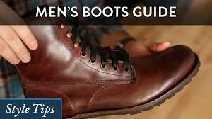 mens black biker style boots how to wear men u0027s boots a high level style guide youtube