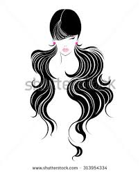 vector women hairstyles on white background stock vector 290096693