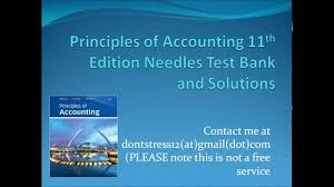 principles of accounting 11th edition needles test bank and