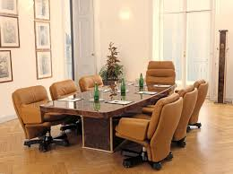table in briar for refined meeting rooms in classic contemporary