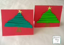 handmade christmas cards folded trees jdaniel4s mom