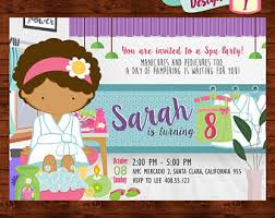 spa party printable etsy