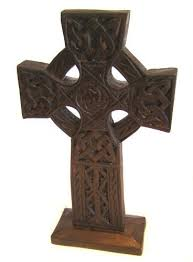 wooden celtic cross celtic cross wooden ornament fair trade 28cm by cornwall
